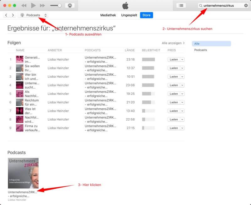 1 iTunes Bewertung Unternehmensnachfolge Podcast